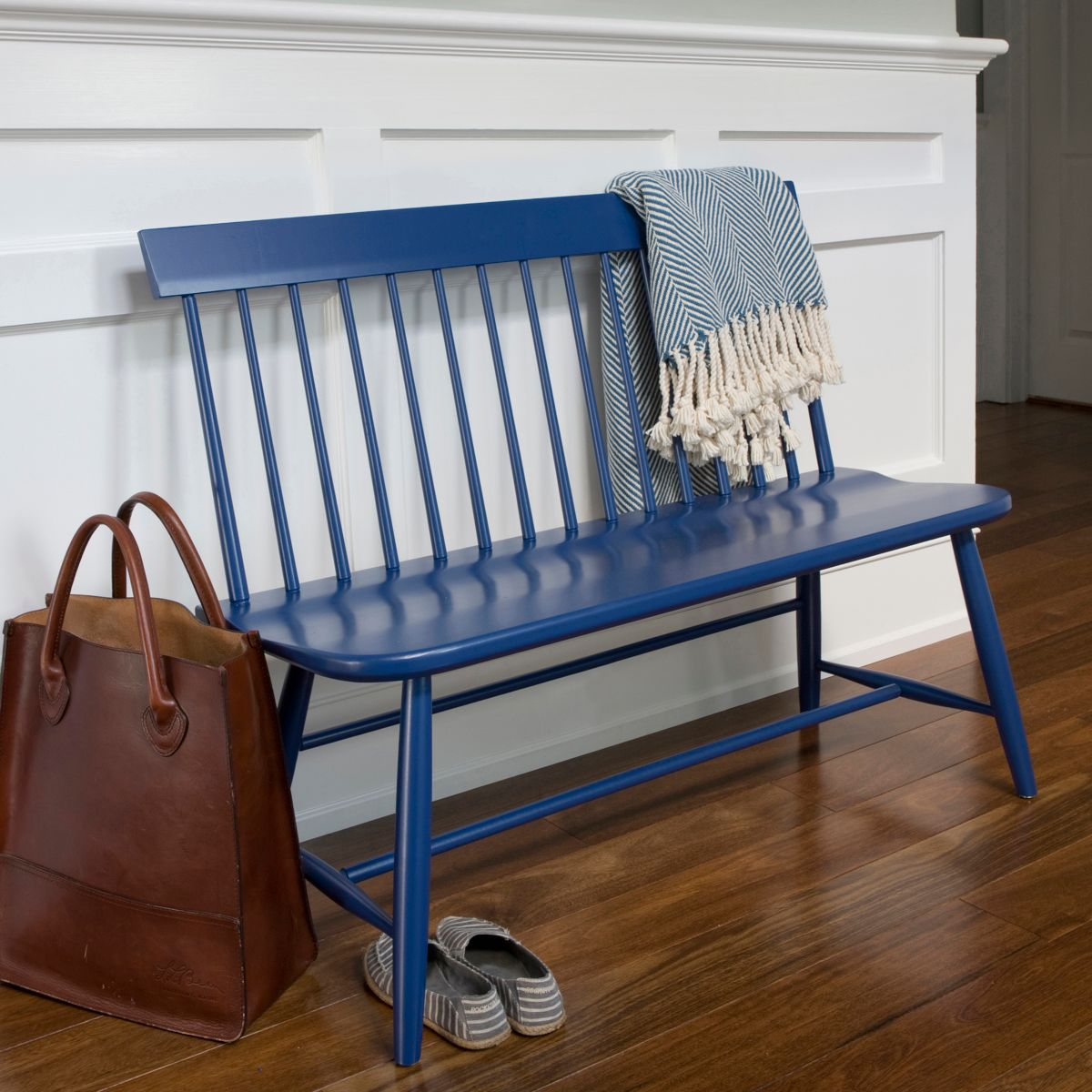 The Margaret Bench by Main Cottage  - $595 - Okay, so this is a little less pricey, but still out of my price range. Or within what I could spend since I sold the credenza, but am I going to blow $600 of it on a bench? Um. No. BUT, it comes in sooooo many amazing colors. And is handmade in America. Gorgeous.