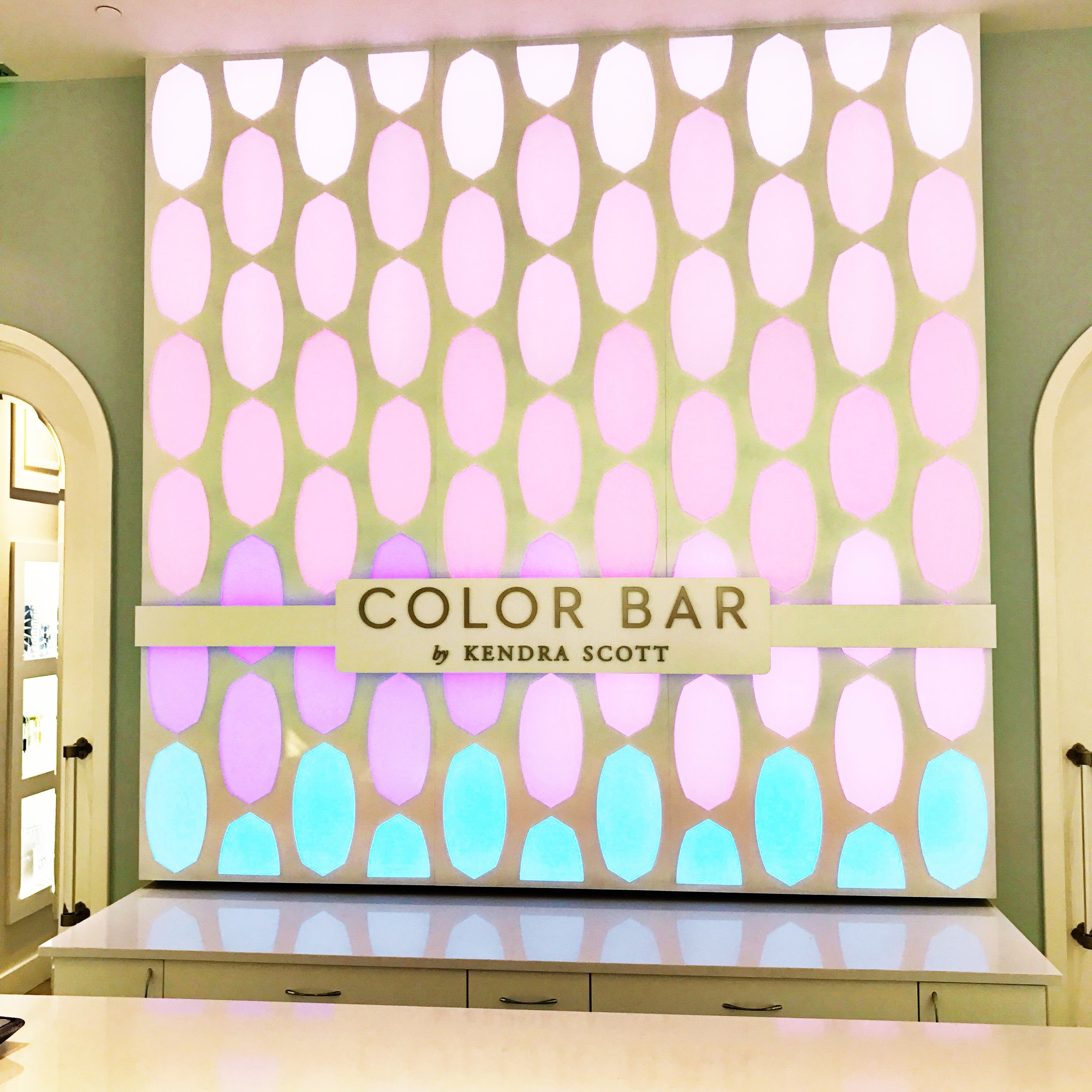 If you haven't been into a Kendra Scott store before, you not only can shop from some amazing pieces but you can actually create your OWN if you can't find something that you love!Kendra Scott's color bar is so incredible. They have a super sized tablet where you can select the style, metal, and stone choice of your custom jewelry.