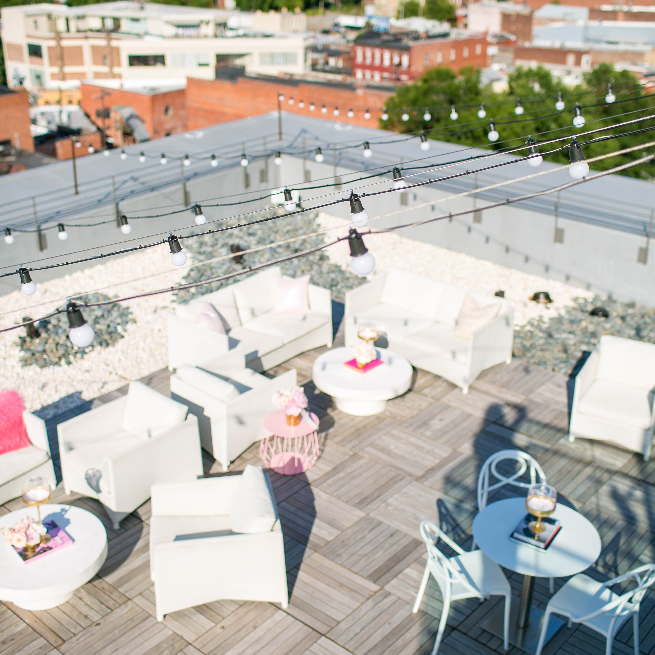 You CANNOT beat this rooftop view of #RVA! Quirk Hotel is definitely the place to be this summer from its chic atmosphere and stunning city views.