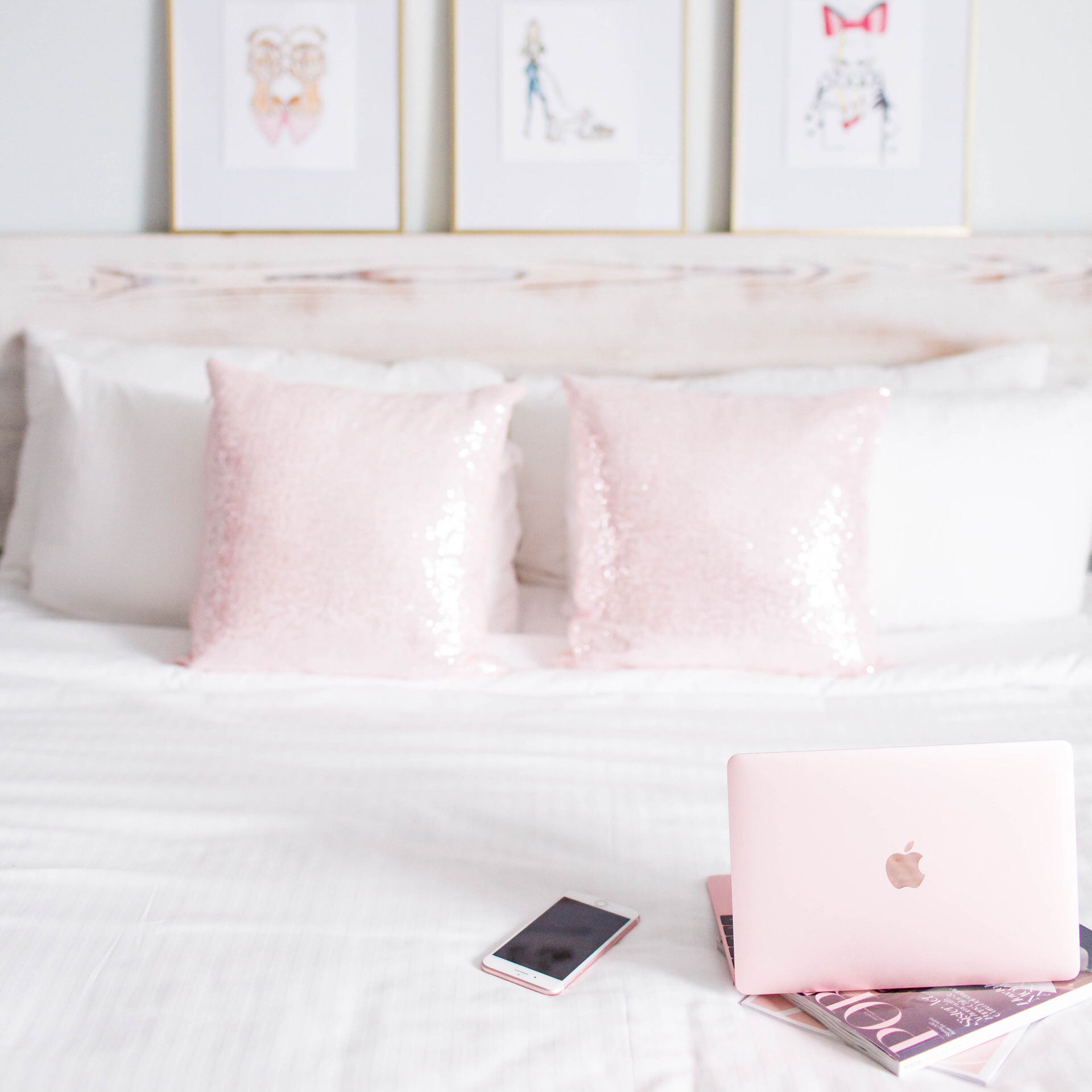 Yes, those are my pillows!No, I can't travel anywhere without SOME styling items! Quirk's rooms are picturesque on their own but you never want to be unprepared for a photo opportunity!