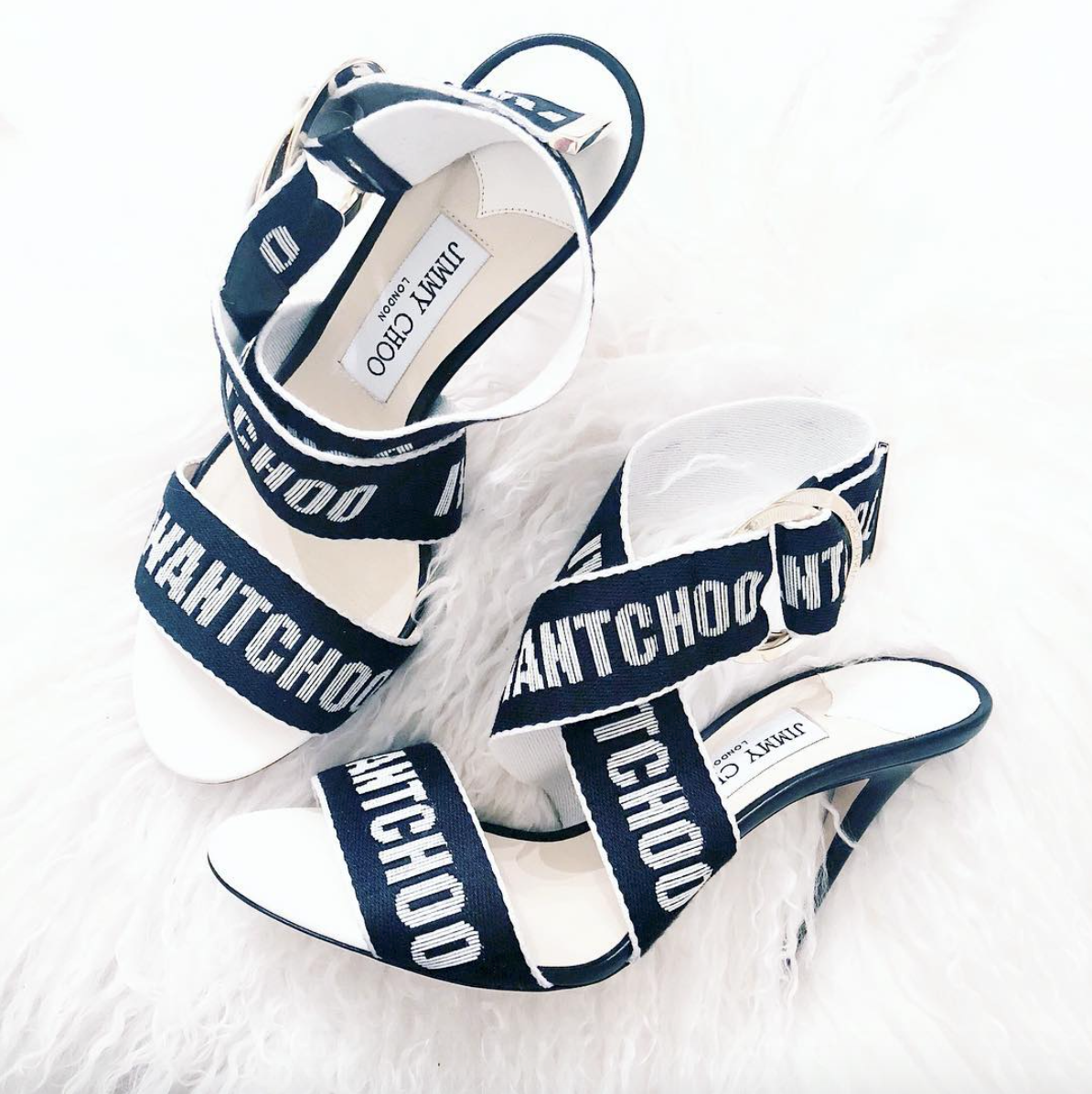 JIMMY CHOO - Costa, my husband, recently surprised me with these Jimmy Choo Bailey Logo-Web Sandal.He has been caught up in #allthethings #worldcup, and as these have a sporty look to them, I thinksoccer had somethingto do with it! They are SO comfortable!
