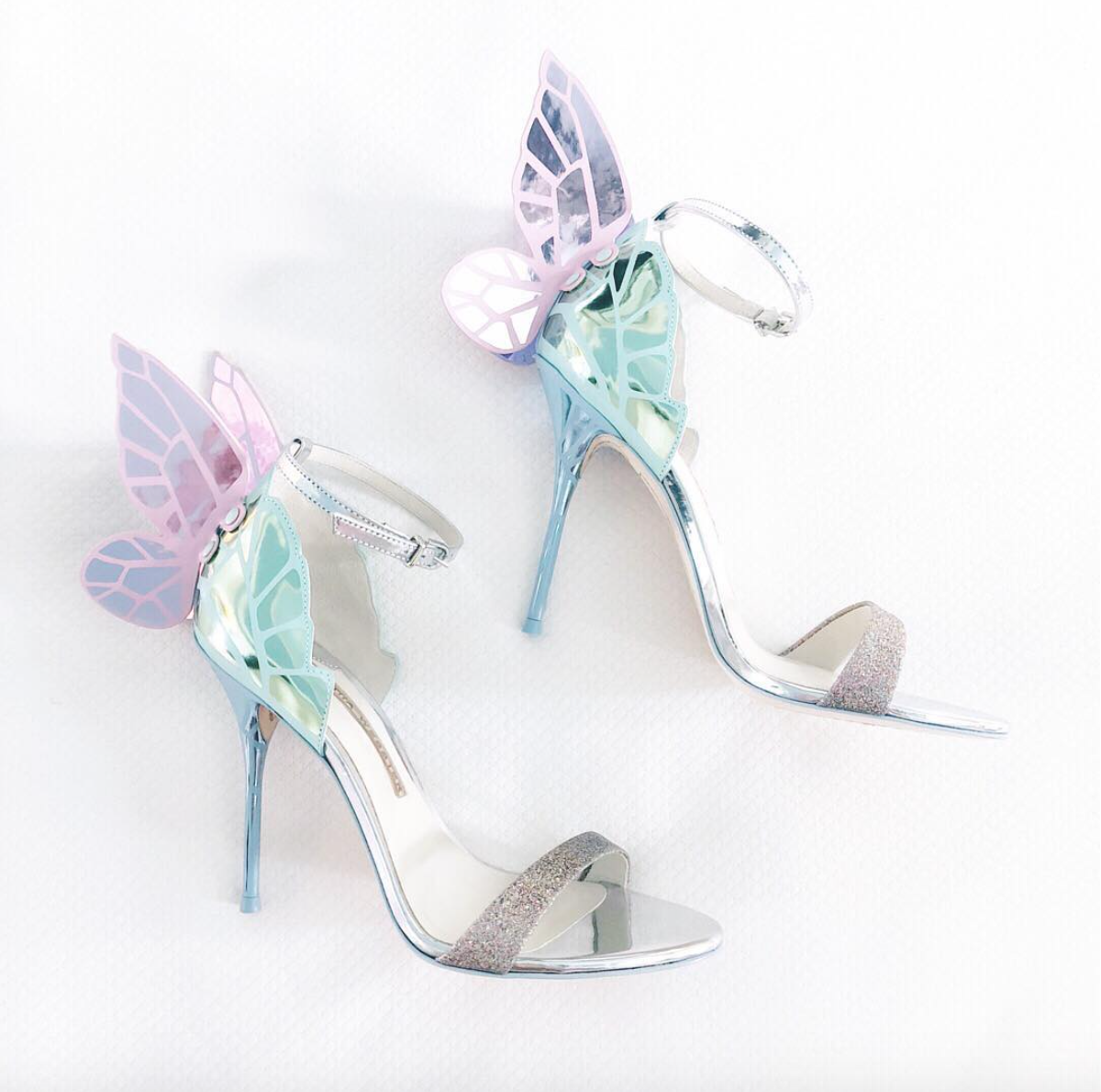 SOPHIA WEBSTER - At first blush, I really only thought I would wear these shoes once or twice. Clearly, they are quite the statement shoe and intricate with detail! But I find myself looking for times to wear these with success! You have probably seen them all over my Instagram page, I've been wearing them so much! Butterfly heels? What's NOT to love?!