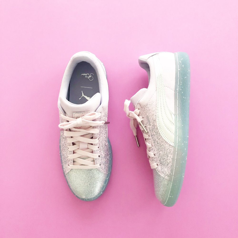 PUMA + SOPHIA WEBSTER - Okay, okay. Third time is the charm. I always thought I would never cheat on Jimmy, Louis, or Christian...but Sophia Webster IS my favorite designer du jour. These are called the Glitter Princess Sneaker. Do I wear them to the gym? Yes. Do I get double-looks? Absolutely. Do I care?! Not when my shoes are prettier than everyone else's!