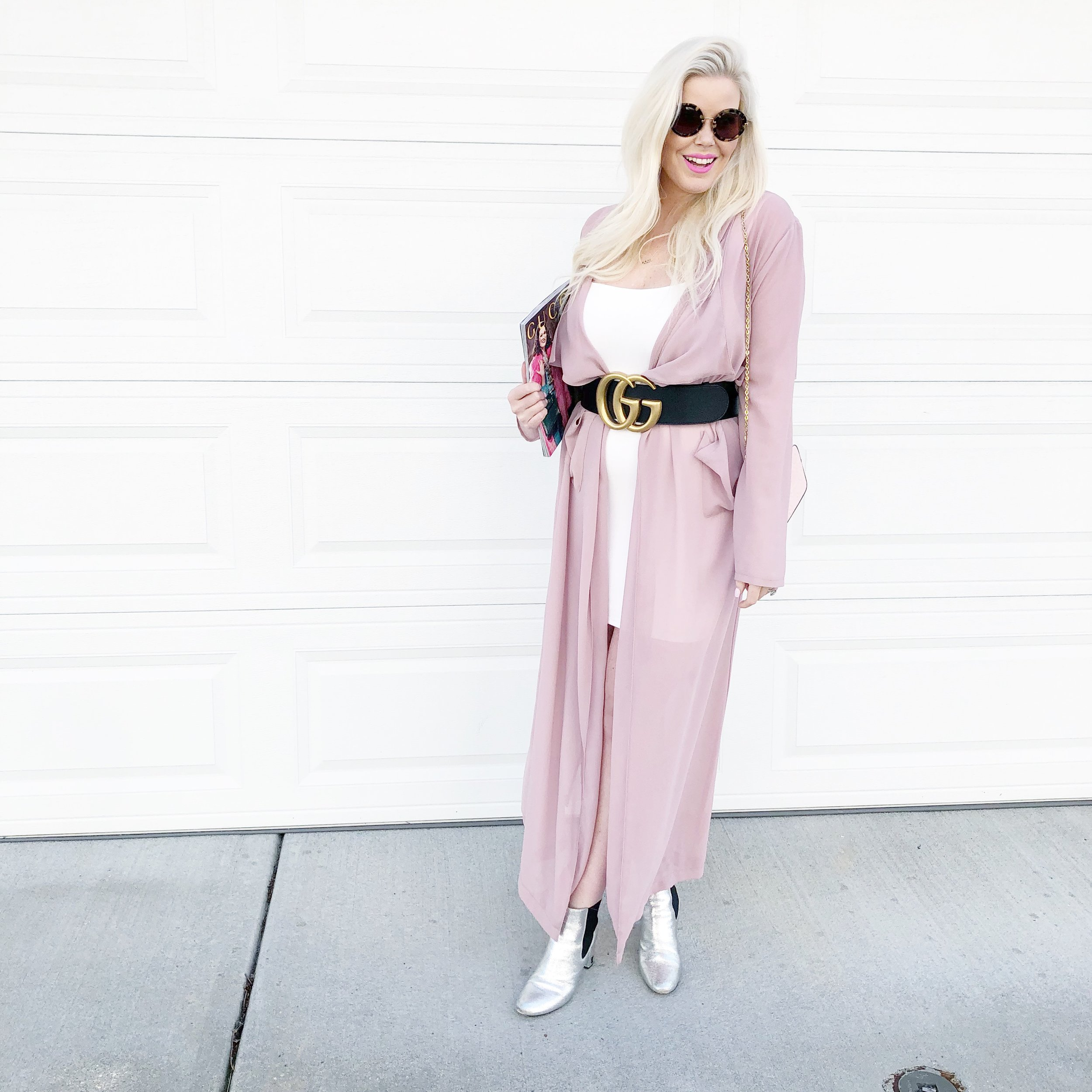 Pink Duster  +  Similar Booties