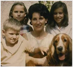 mark, georgia, mom, me & axel (our cocker spaniel)