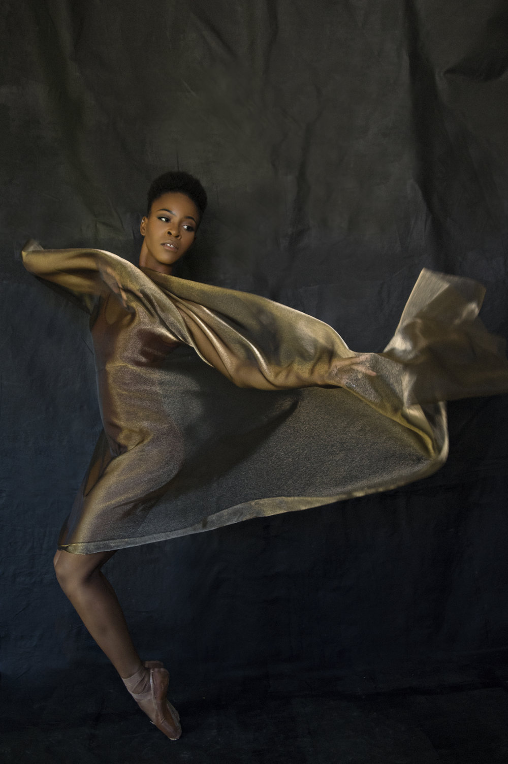 Portrait of a dancer on pointe