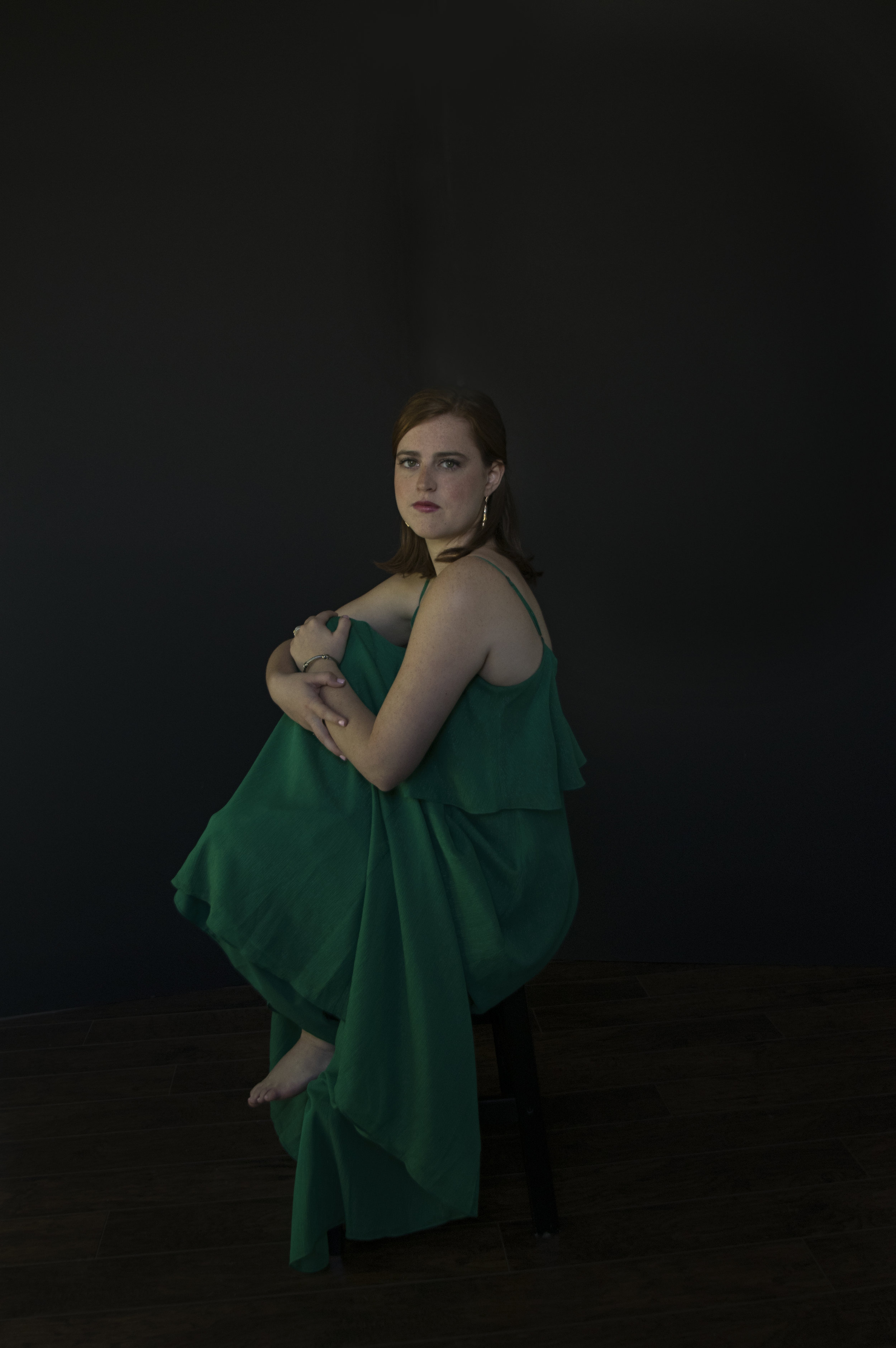 Heirloom Portrait of a Young Woman in a Green Dress