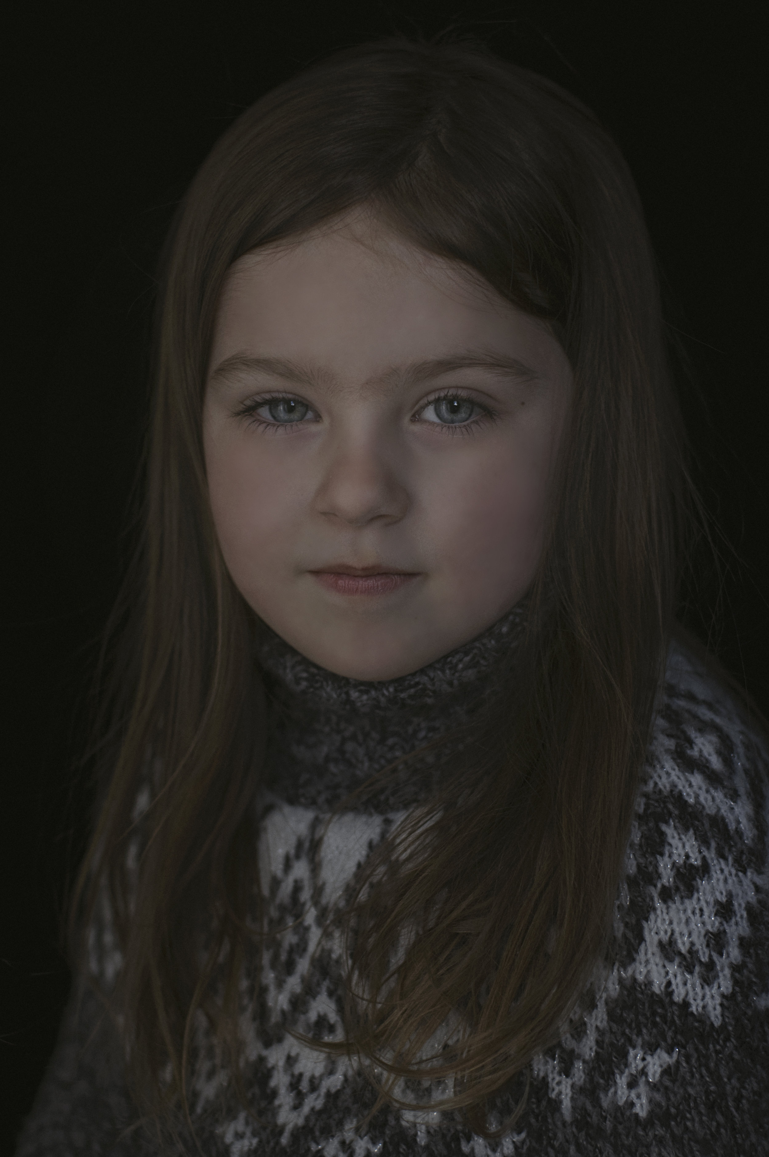 Heirloom Portrait of a Young Girl