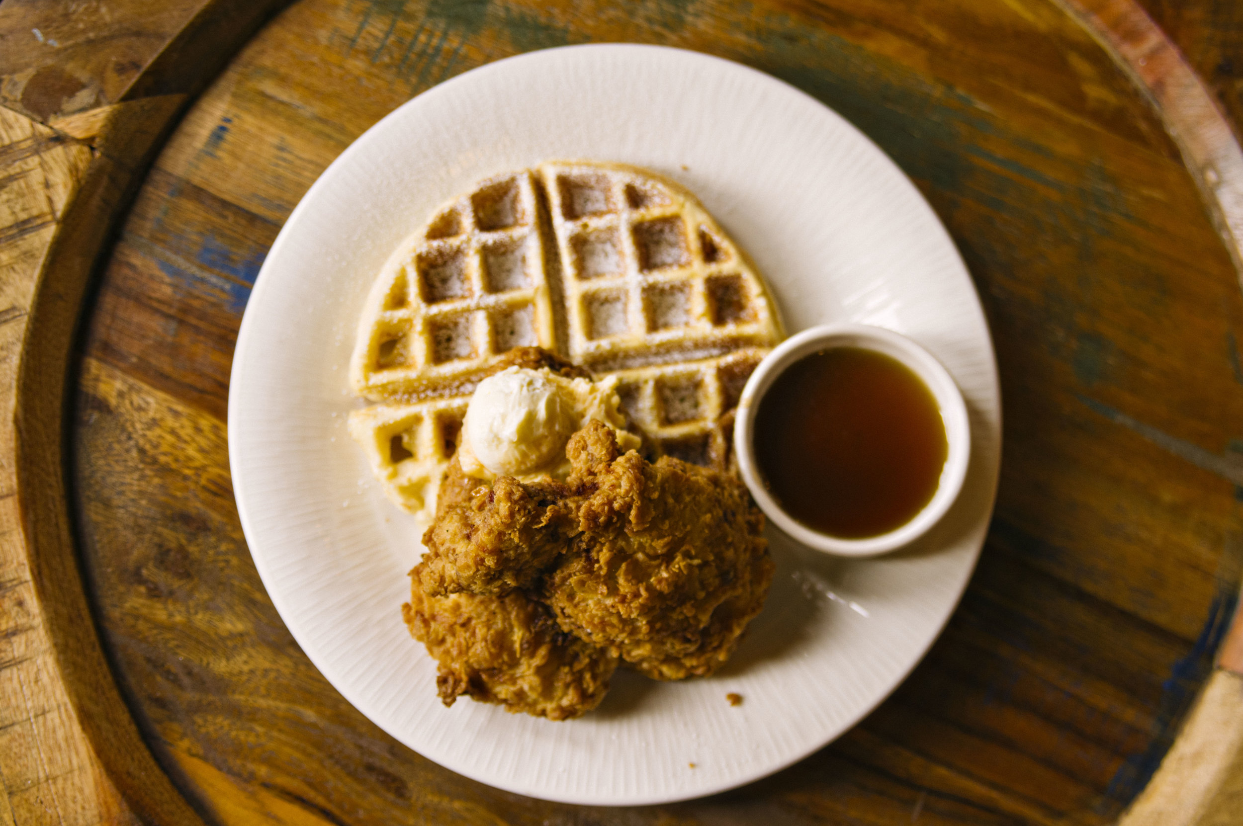 Chicken and Waffles at Bayou Roux