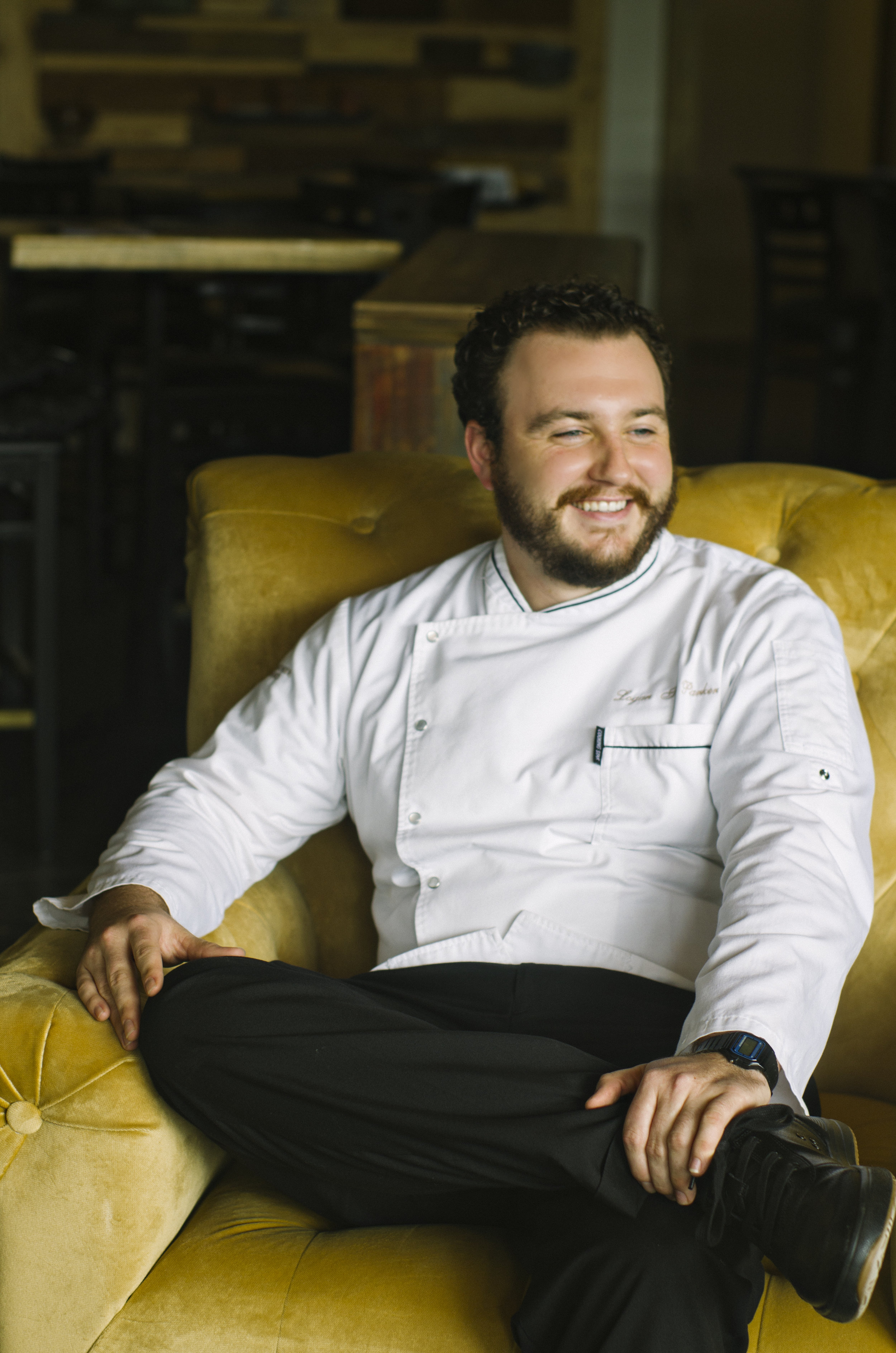 Chef Logan Laughing