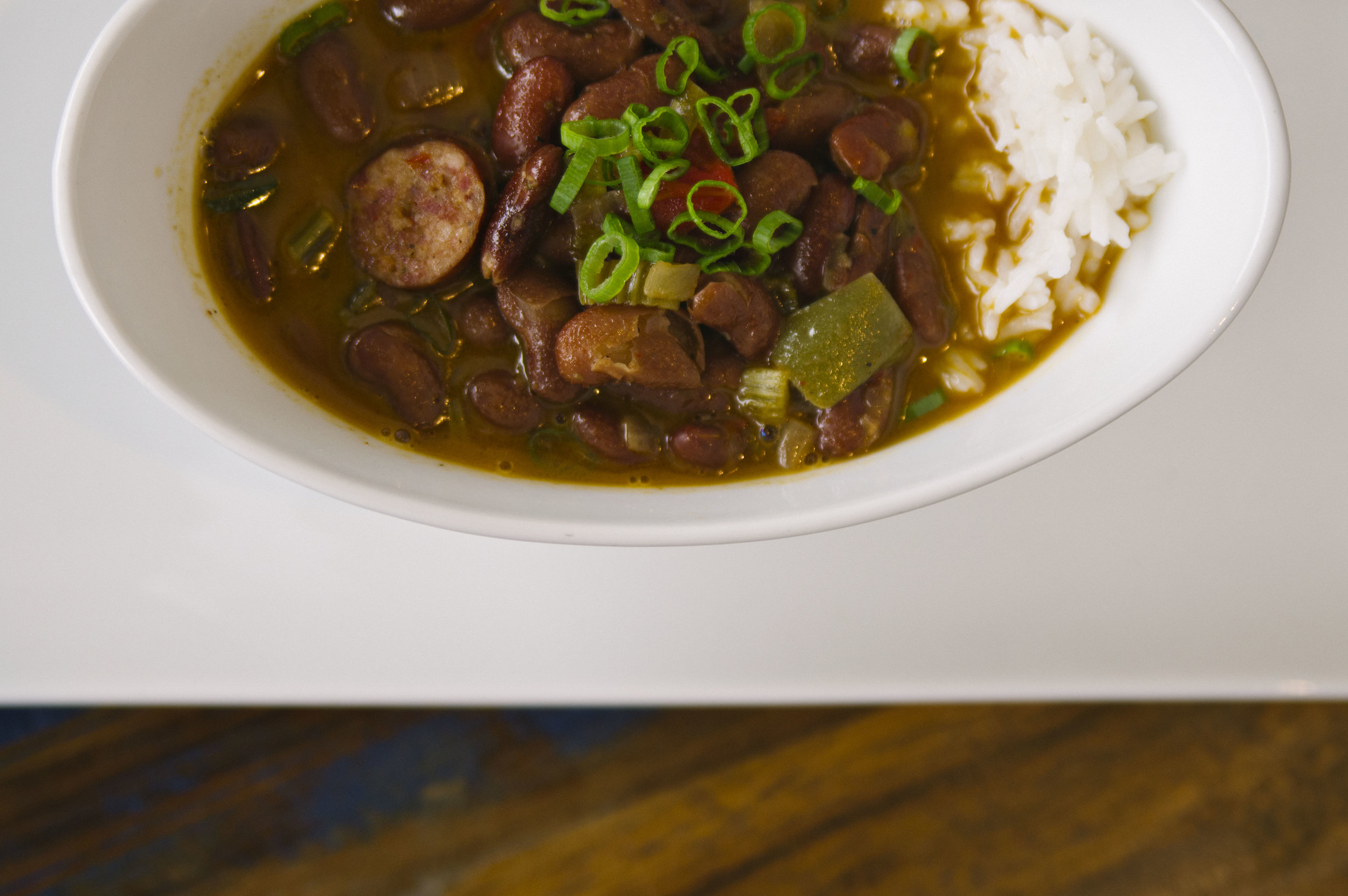 Red Beans and Rice at Bayou Roux