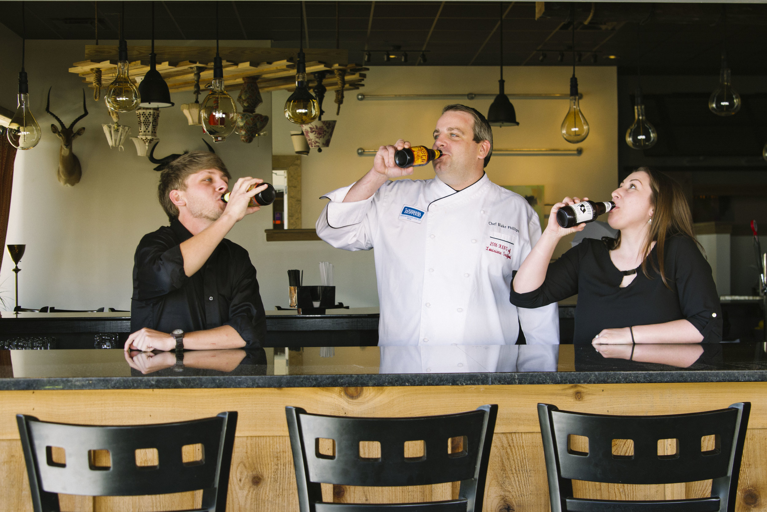 Bayou Roux Staff Drinking