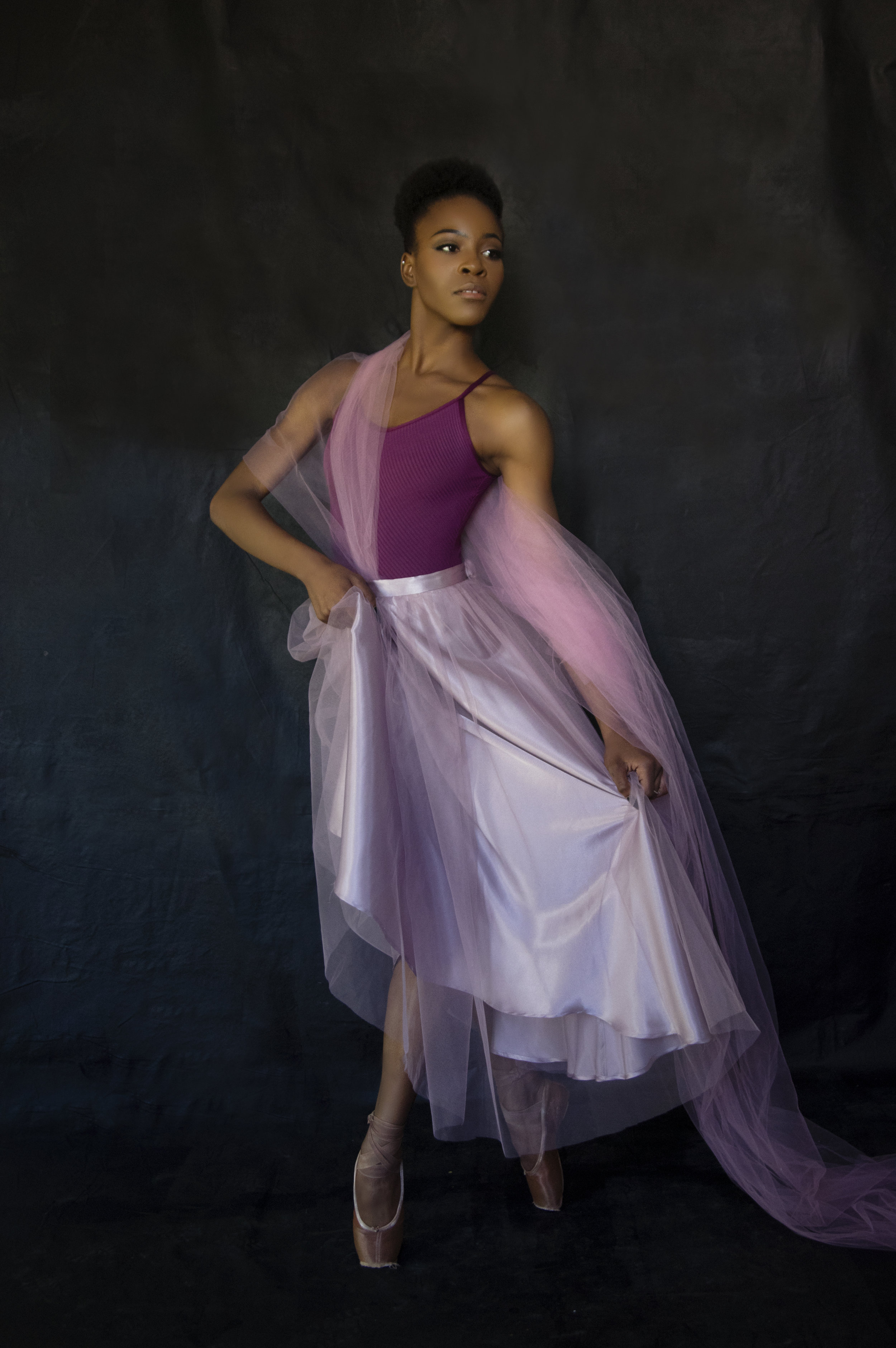 Heirloom portrait of a ballet dancer