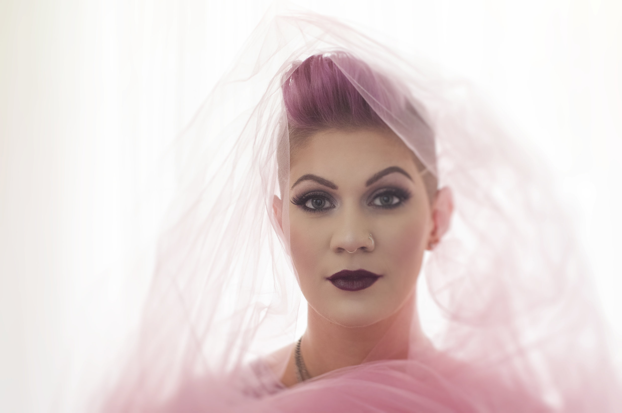 Heirloom Portrait of a Woman in Pink