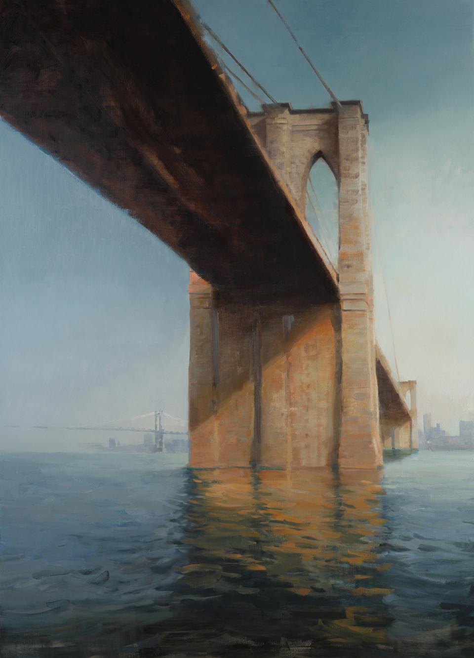 "Brooklyn Bridge  72"" X 52""  oil on canvas"
