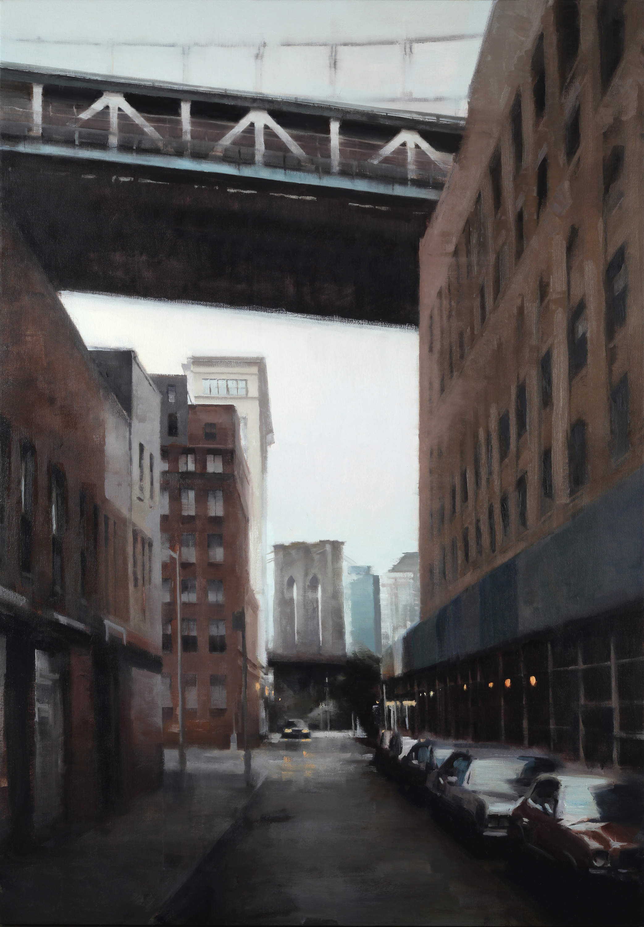 "Dumbo at dusk 60"" X 42"" oil on canvas"