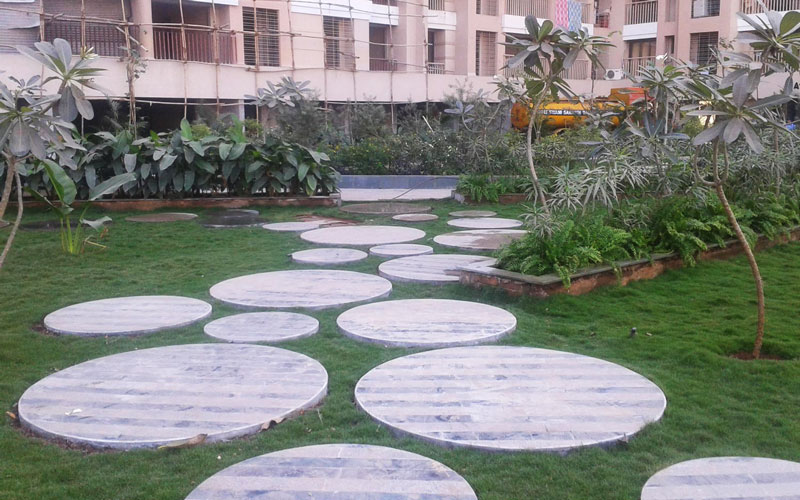 Circular stoned pathway