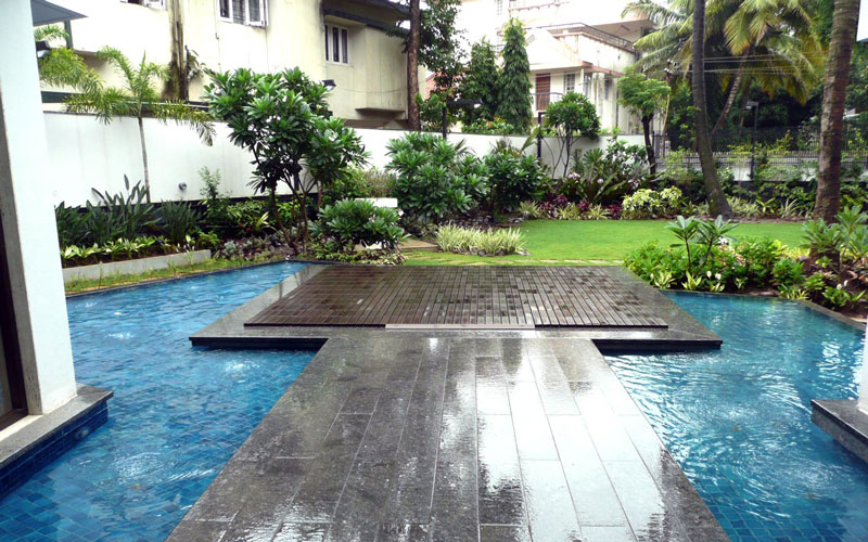 Water feature for villa