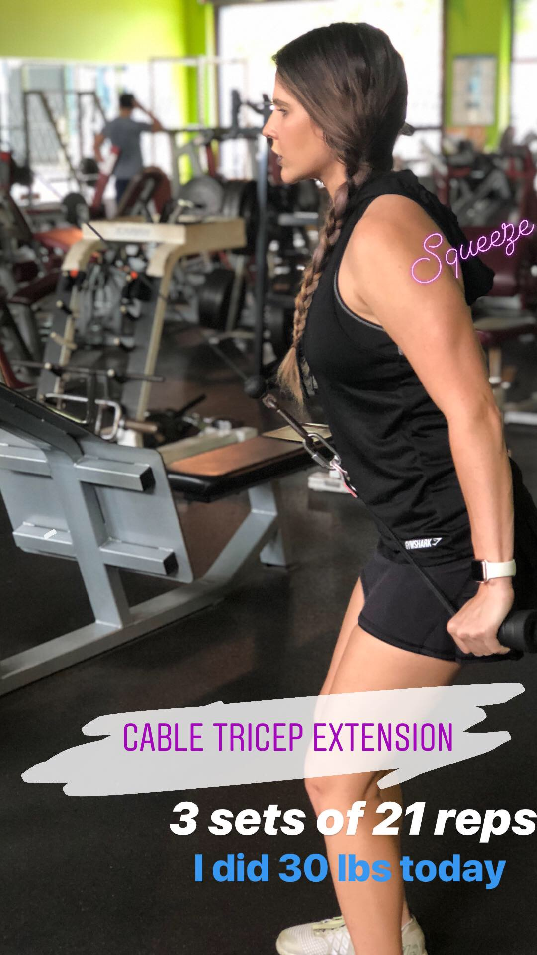 cable tricep extension angela fletcher