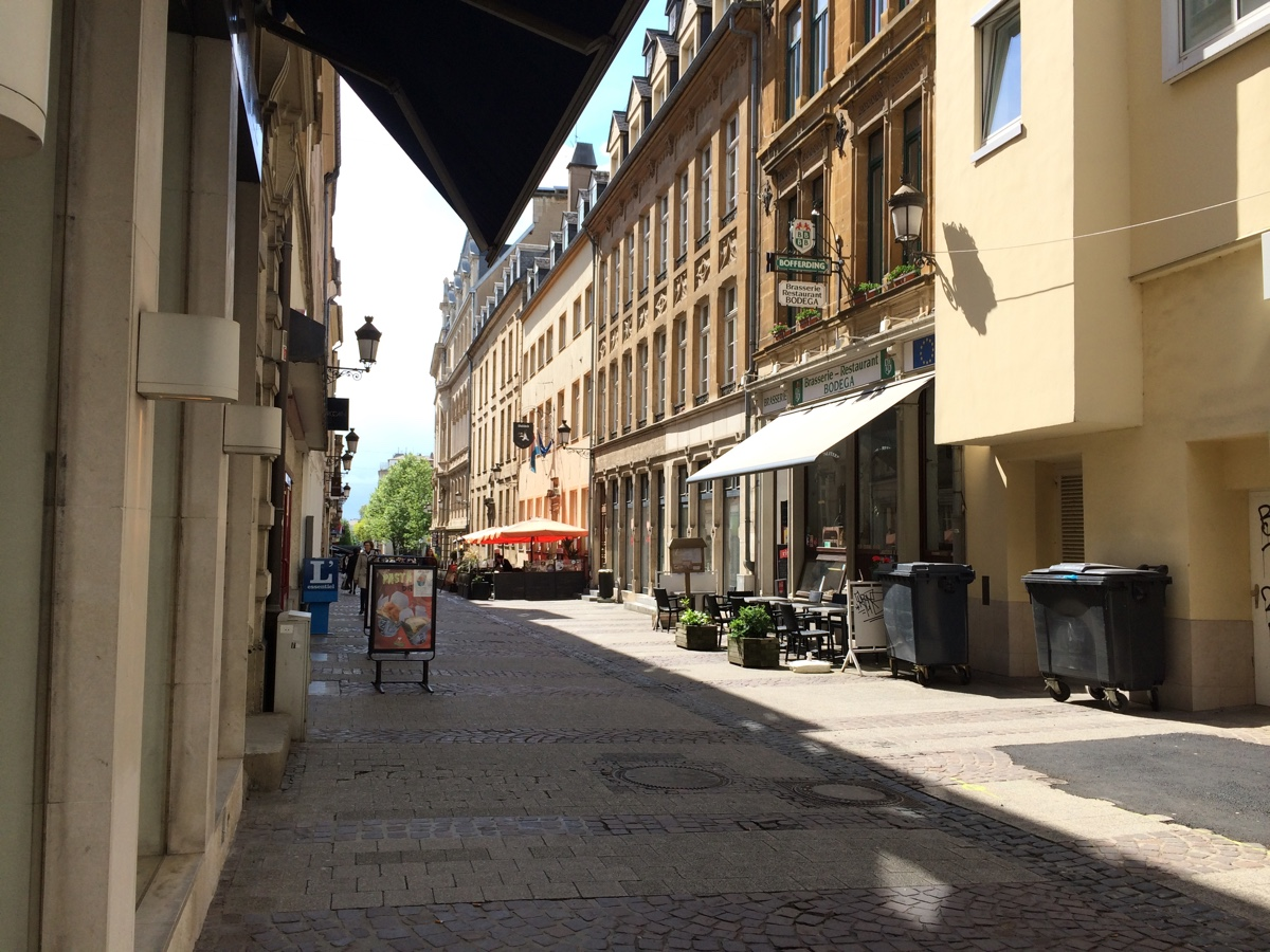 The first four photos are of the streets in the old city center in the morning.