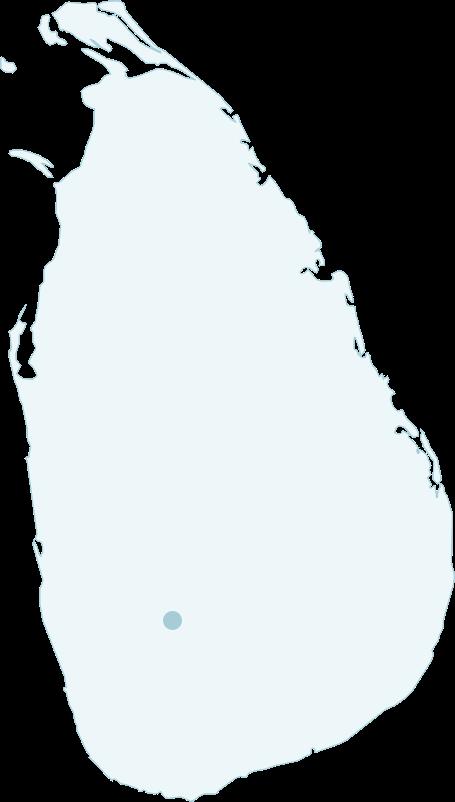 Adam's Peak location in Sri Lanka