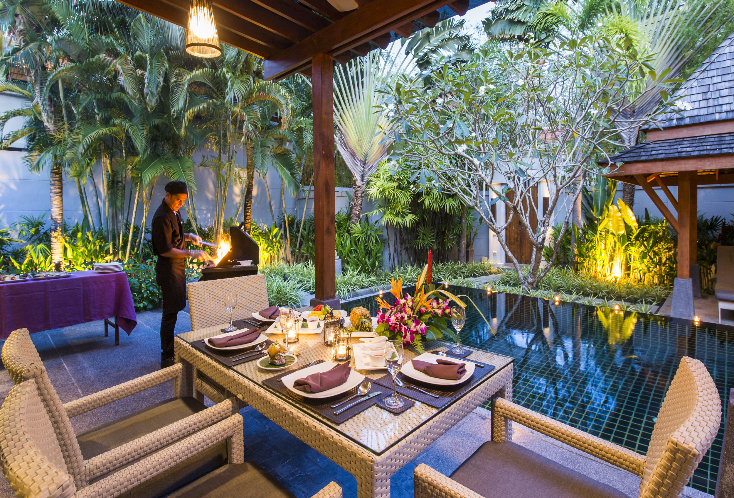 In-villa BBQ by the Pool