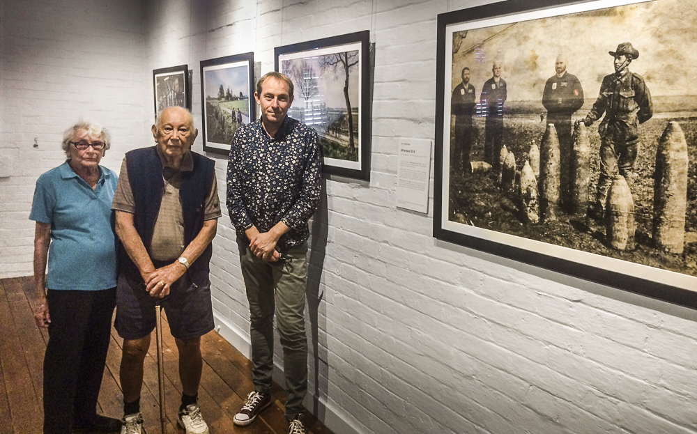 Keith and Juanida Shang; a century ago, Keith's father fought at Passchendaele on the very land where this project was produced