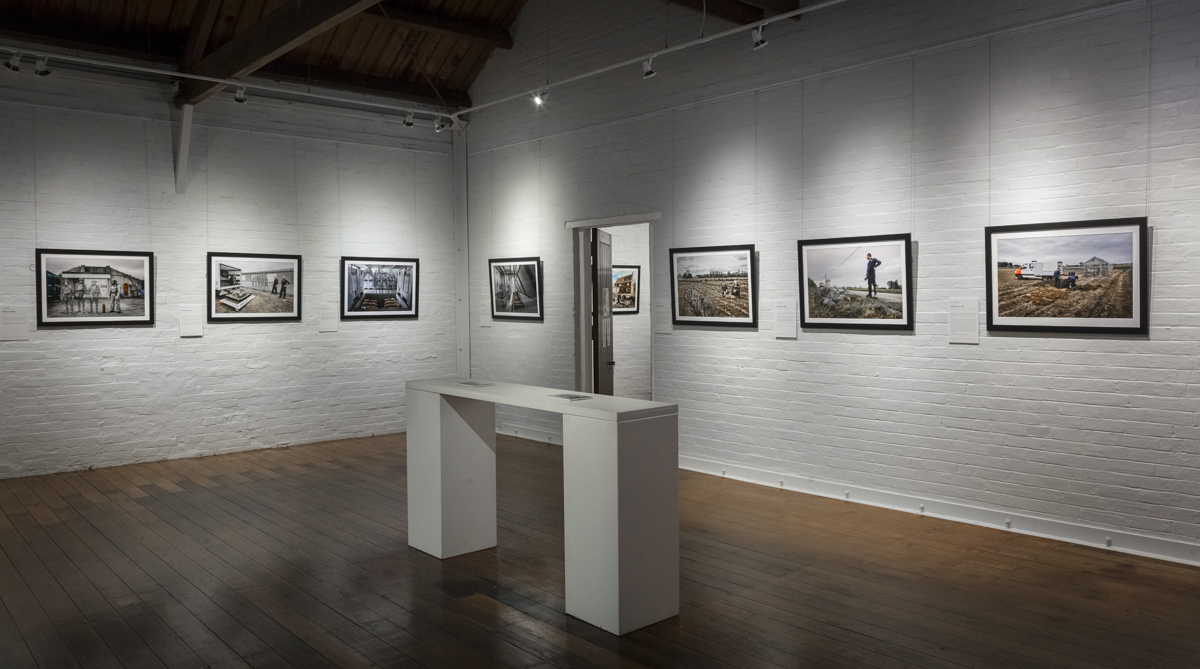 The first of the two galleries at Gatakers artspace, Maryborough, in which  'Recovering The Past'  made its Australian debut