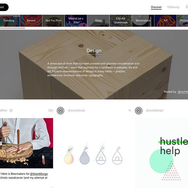 Featured in Ello's design category! Link in bio.