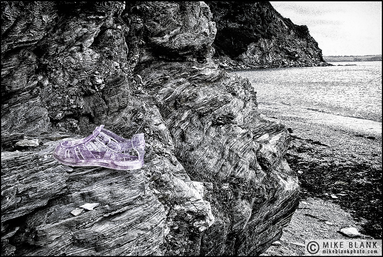 Lost shoe, Charlestown, Cornwall, England, 2004