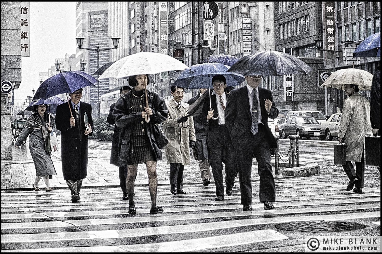 Umbrellas, Nihonbashi, Tokyo, Japan, 1991