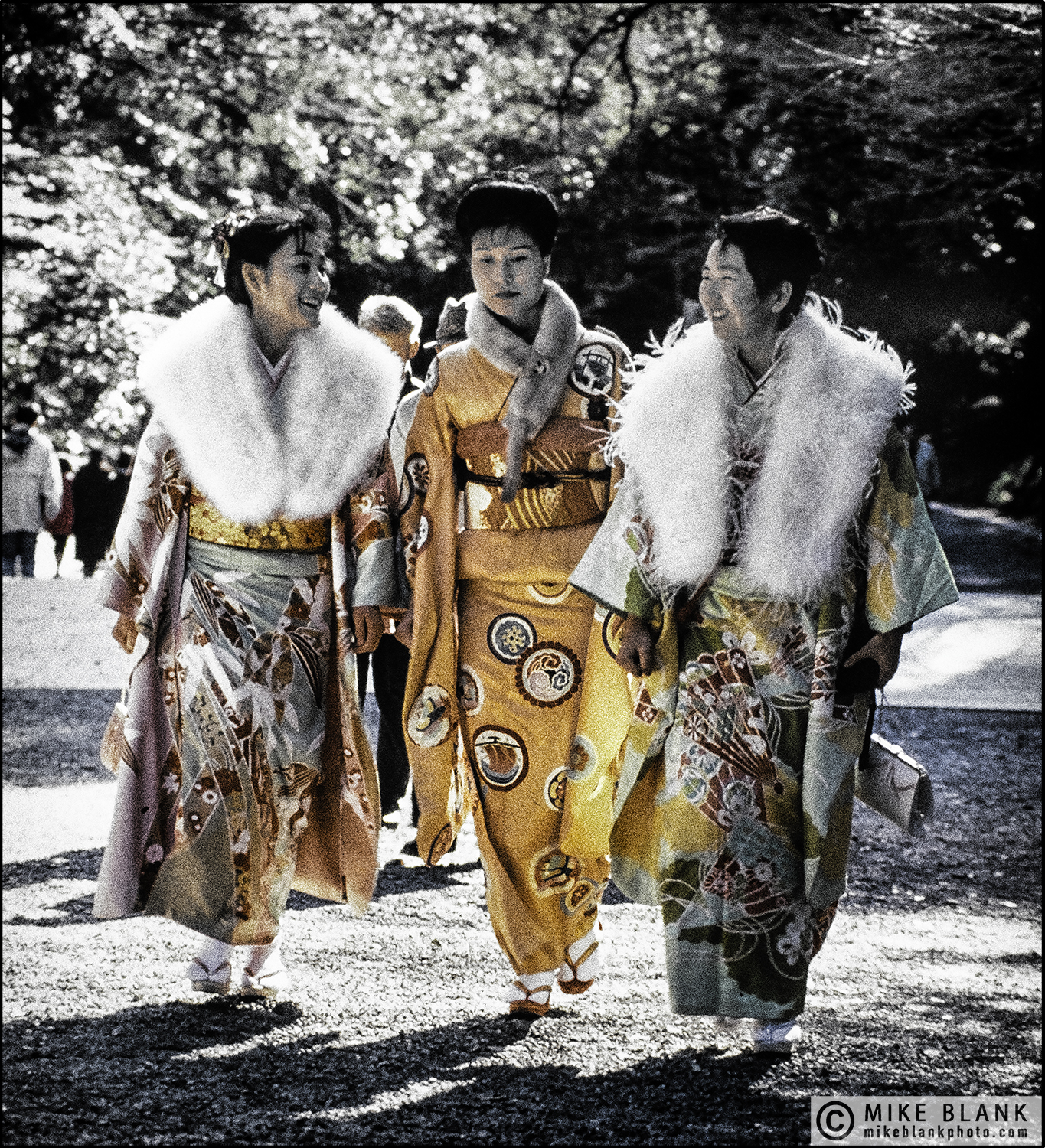 Coming of Age Day, Meiji Shrine, Tokyo 1991