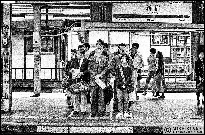 Waiting, Shinjuku Station, Tokyo Subway 1991