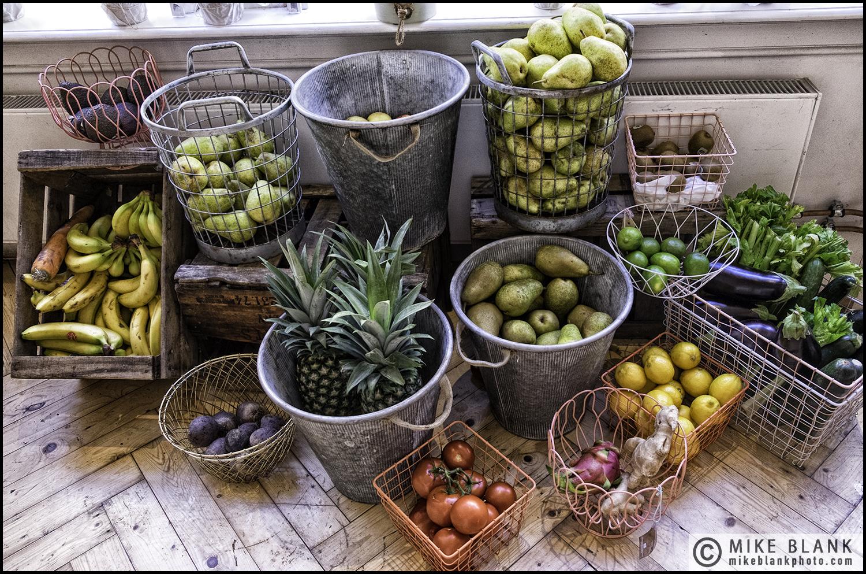 Cafe fruit & veg display