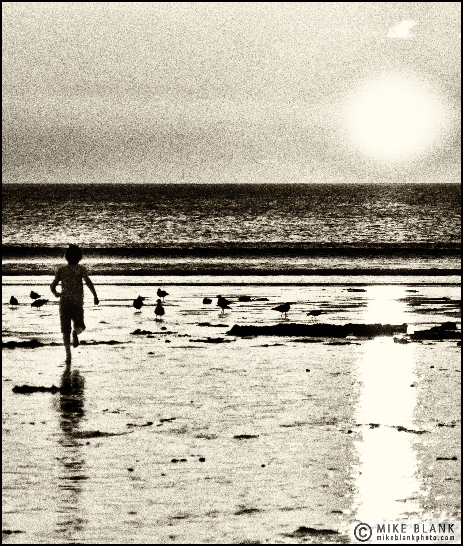 Boy on the beach, Cornwall 2012