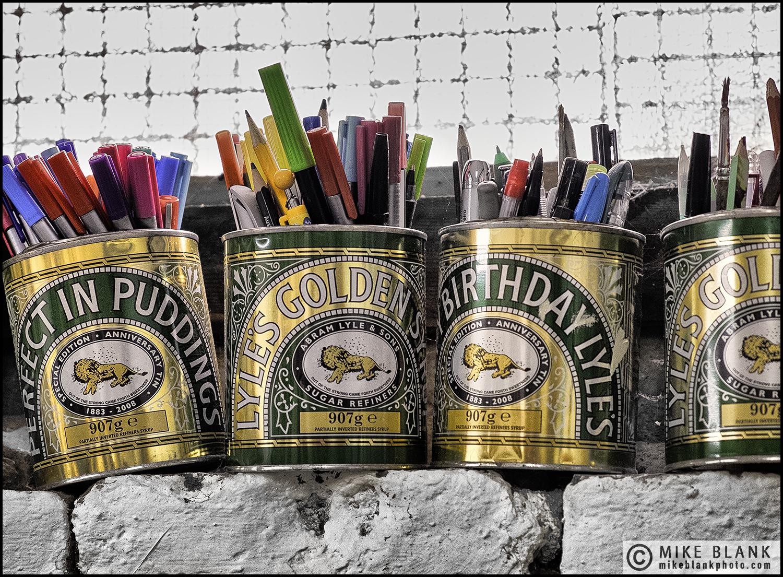 Artist's pens, London 2016