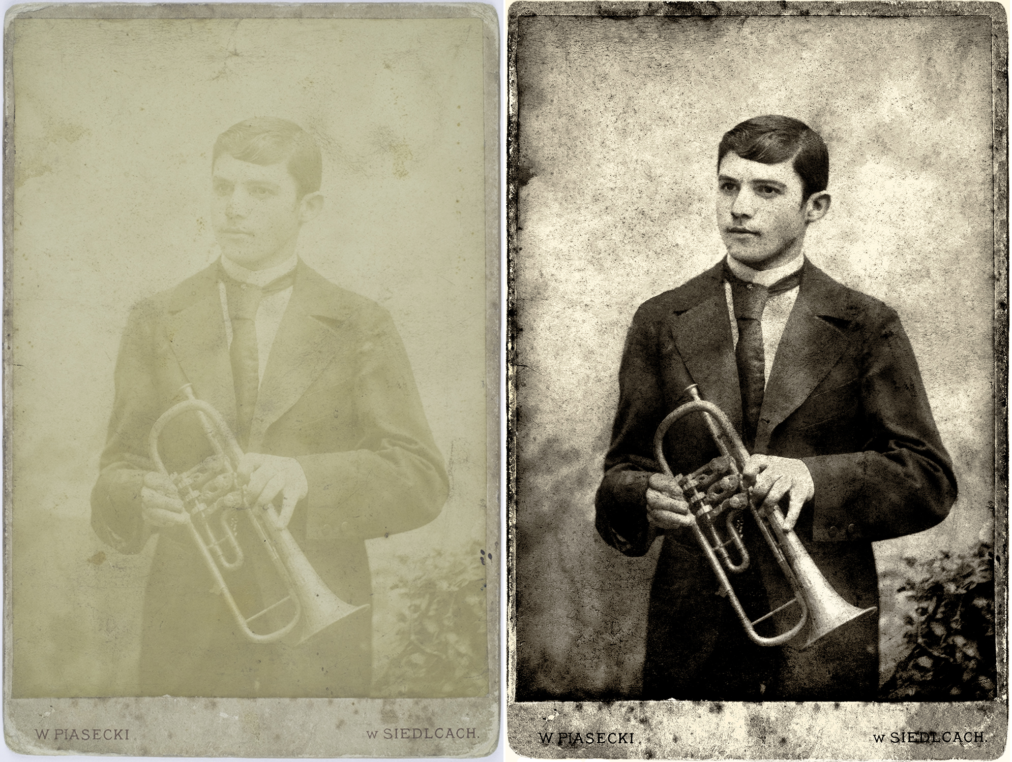 My grandfather Bernard (Berish) Blankleider, Poland 1890s.  Digital restoration.