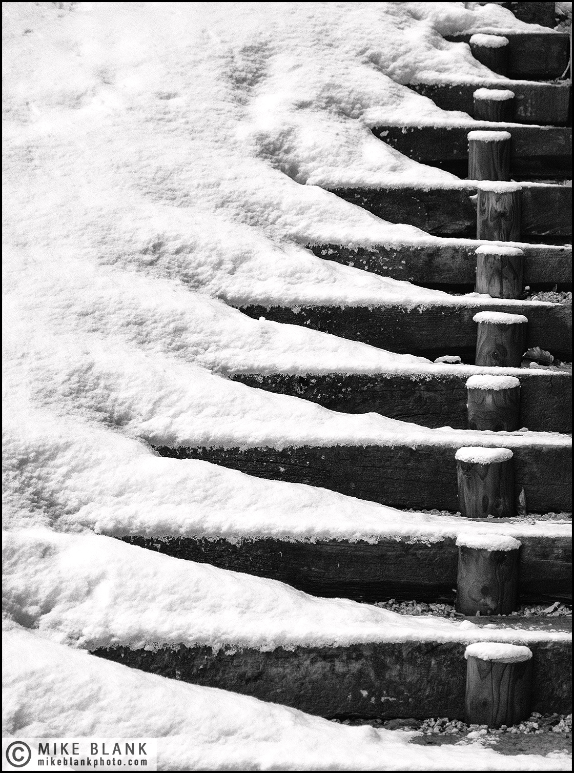 Stairs, Megeve, 2017