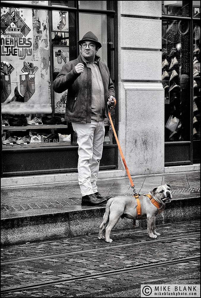 Man & dog, Geneva 2018