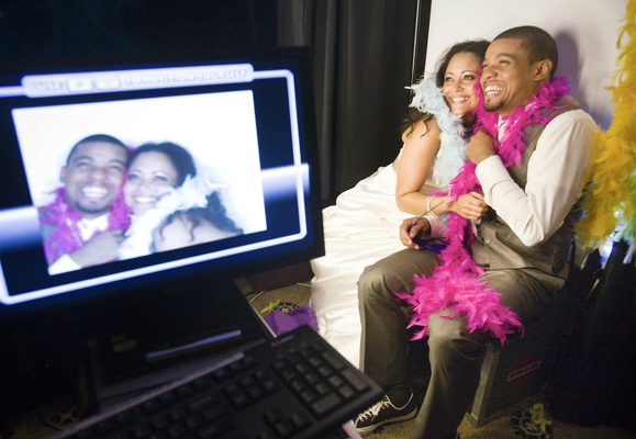Bride & Groom in photo booth