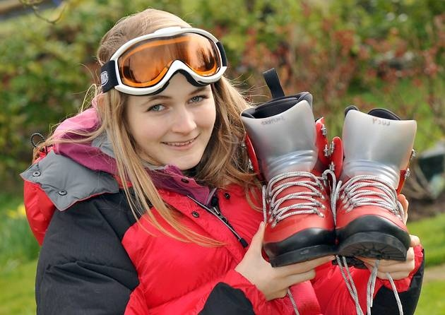 Lucy Shepherd from Henham, who is going to the Arctic for two months.