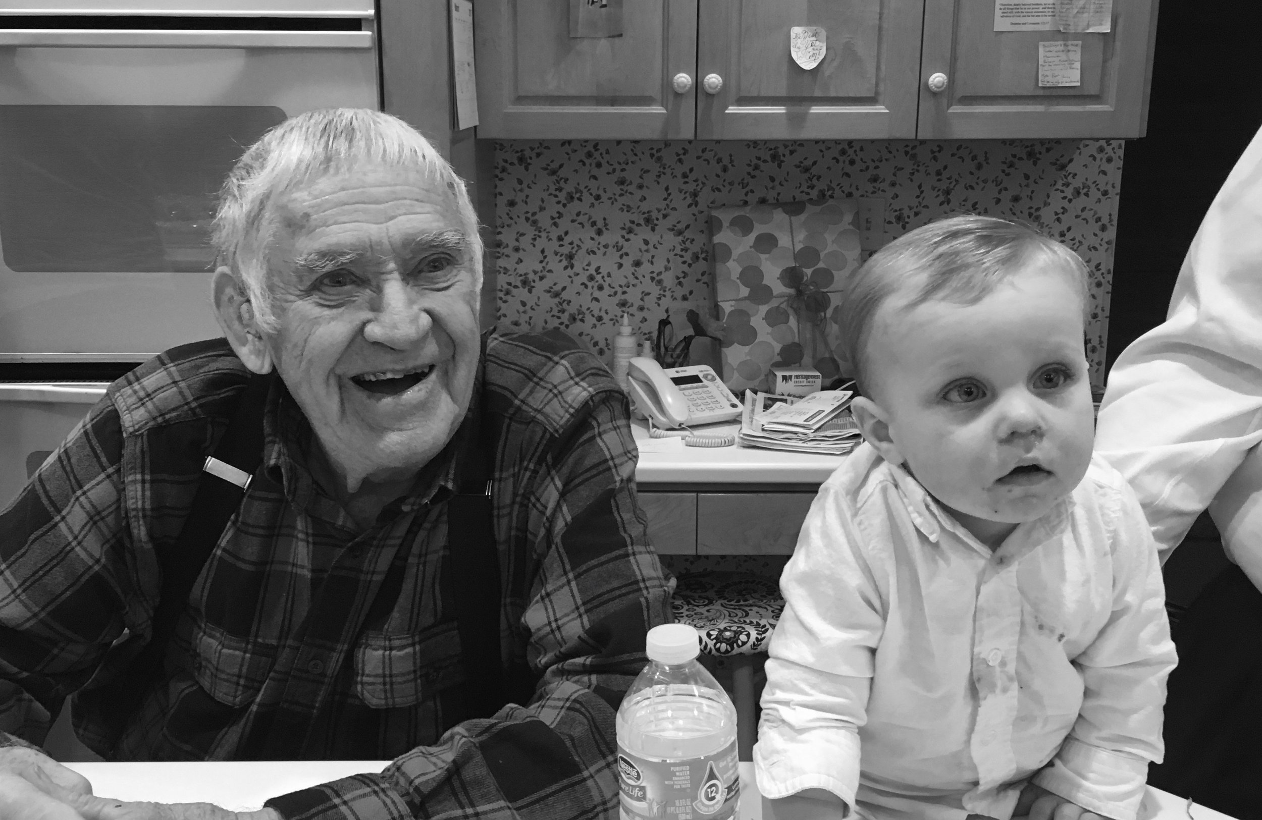 My little Cal with Grandpa Taylor.