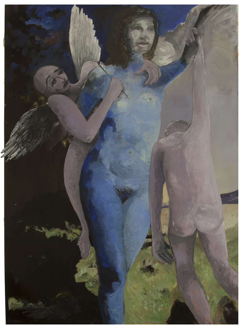 'Cupid and the boy' 2019, Inkjet photograph & Acrylic, 85x110cm