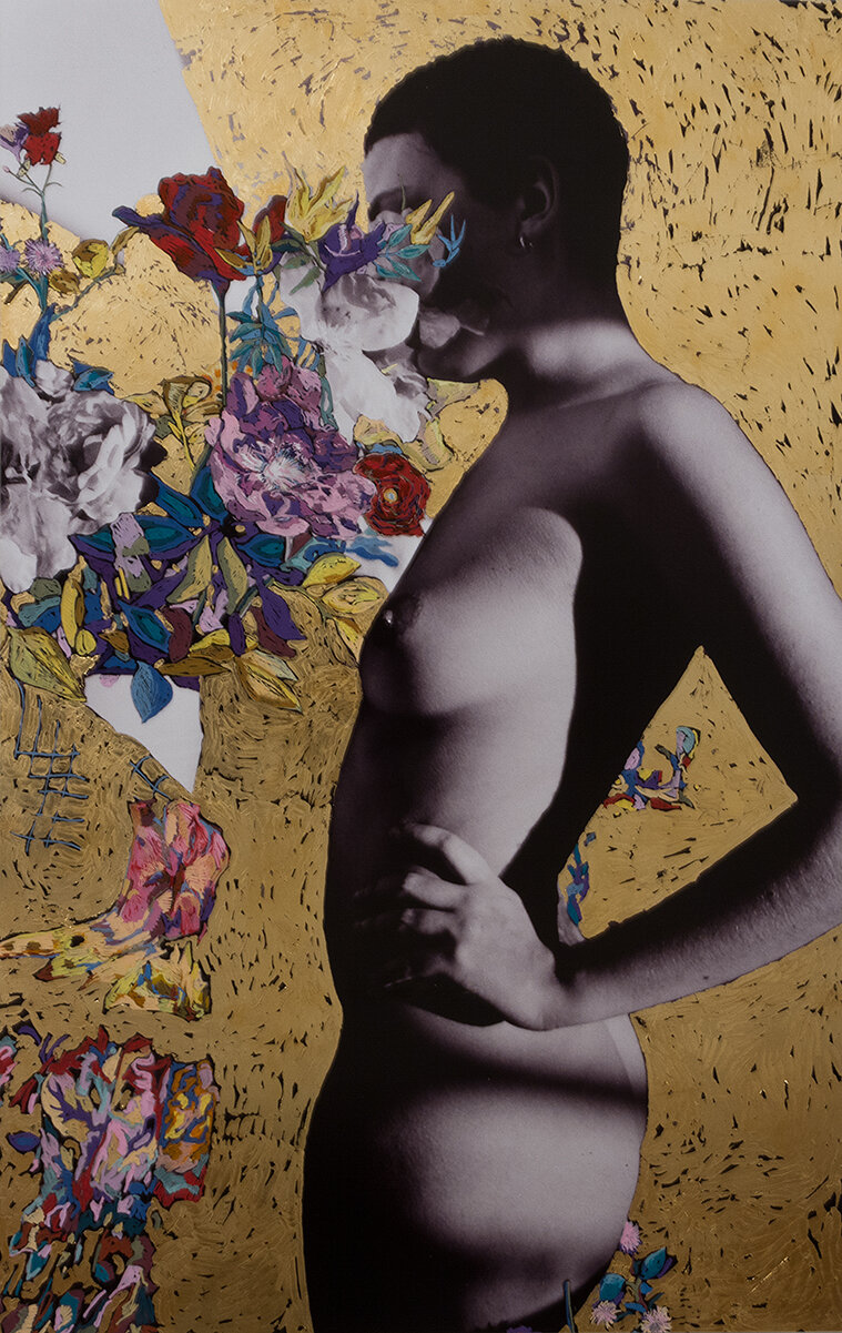 'Golden Jess' 2016, Inkjet photograph & Acrylic, 106x70cm