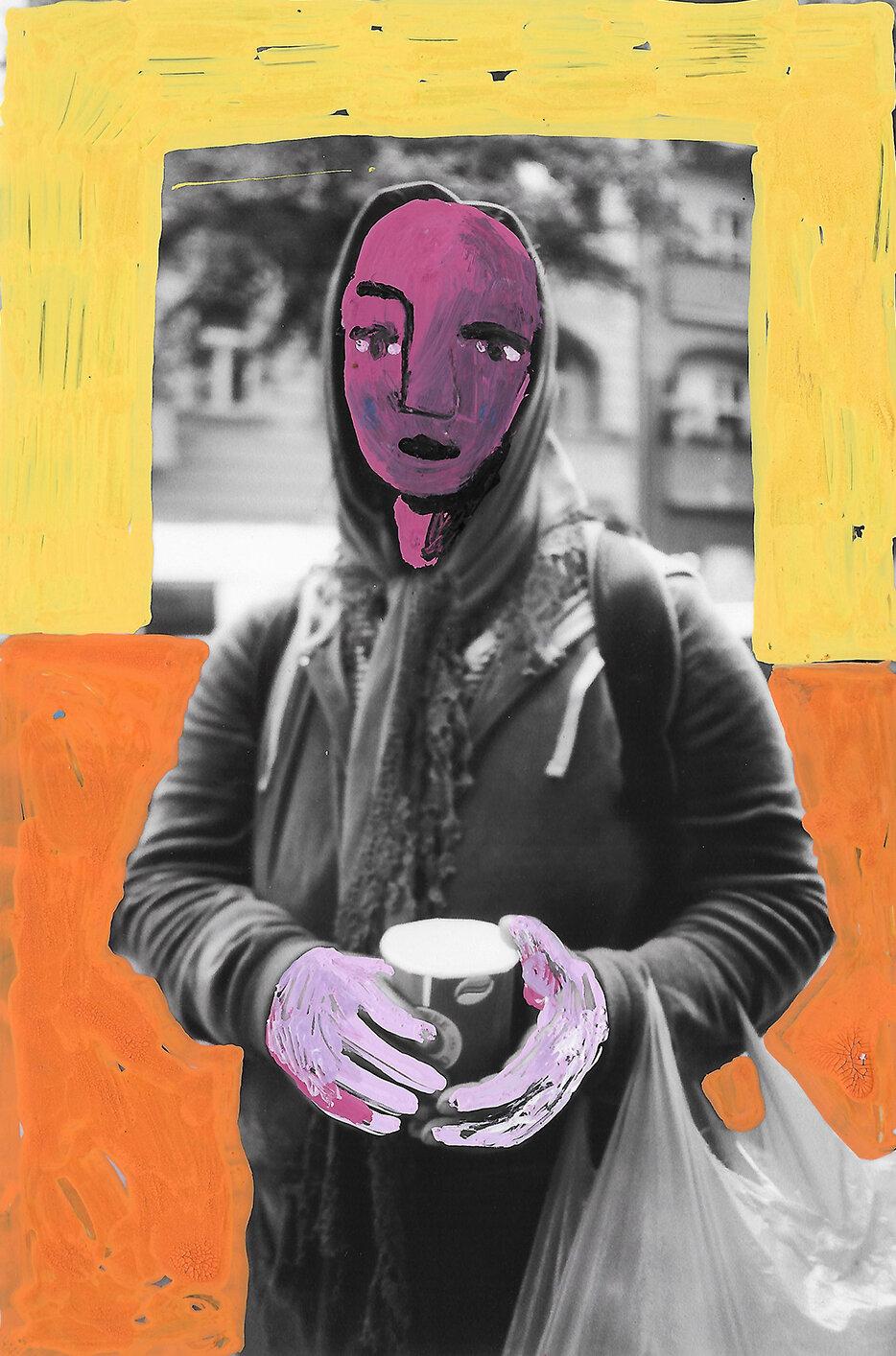 'Reframing Change' 2019, Berlin, Inkjet photograph & Acrylic, 10x15cm