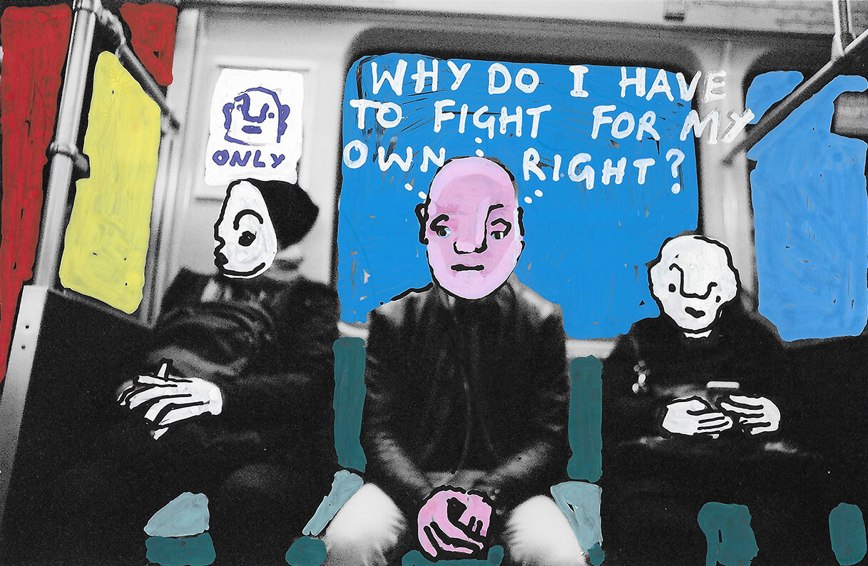 'Why do I have to Fight for my own Right?' 2019, Berlin, Inkjet photograph & Acrylic, 10x15cm