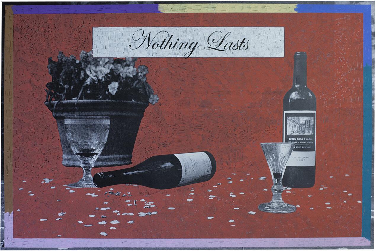 'Nothing Lasts' 2017, Inkjet photograph & Acrylic, 150x100cm
