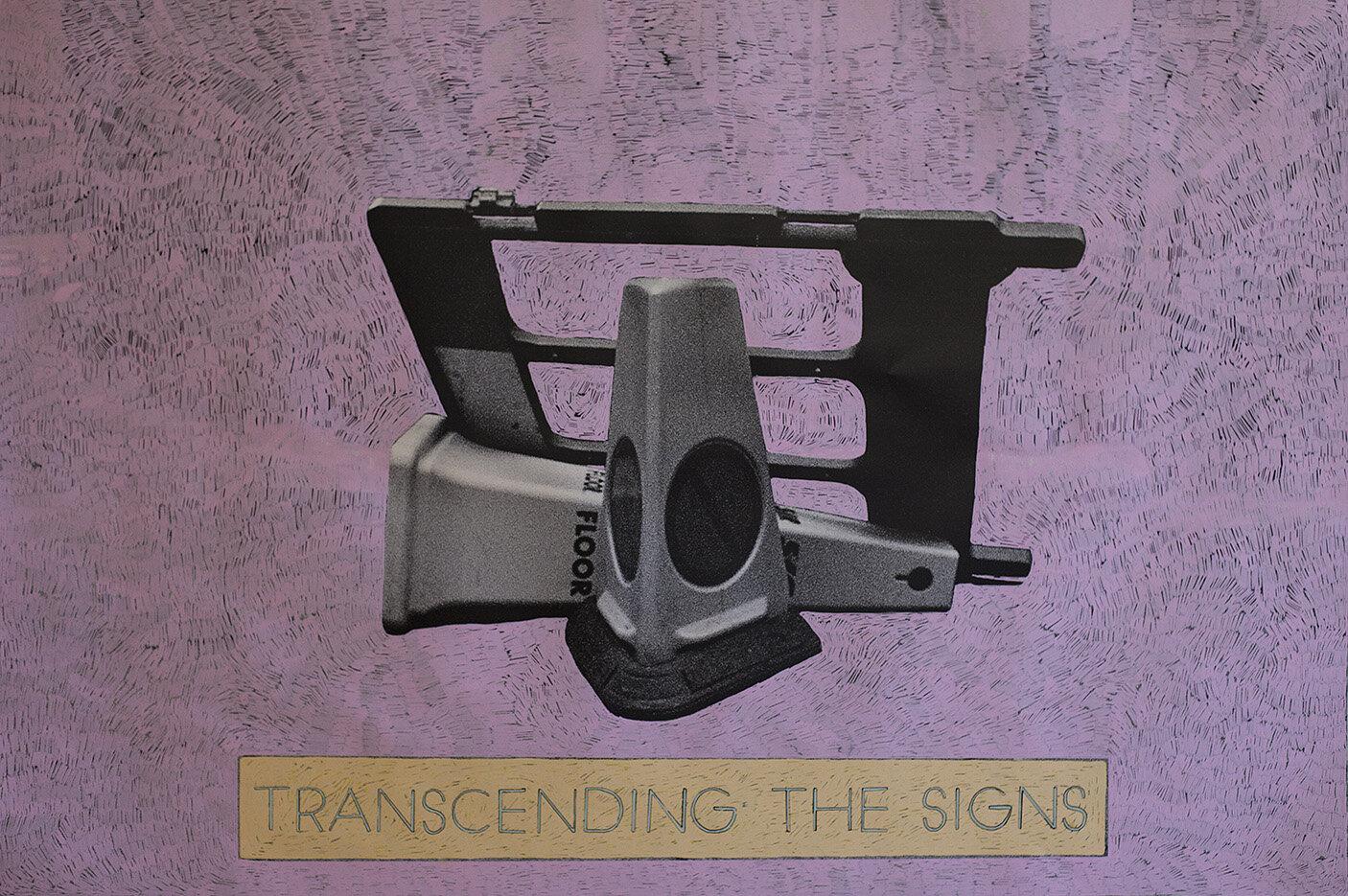 'Transcending the Signs' 2017, Inkjet photograph & Acrylic, 150x101cm
