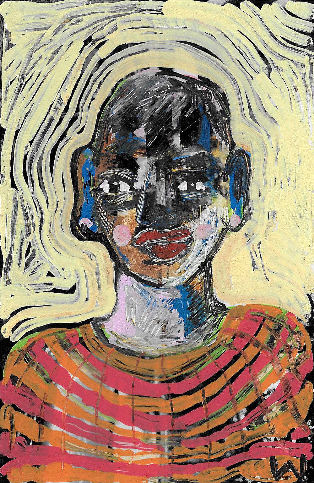 'Angry Youth' 2017, Berlin, Inkjet photograph & Acrylic, 10x15cm