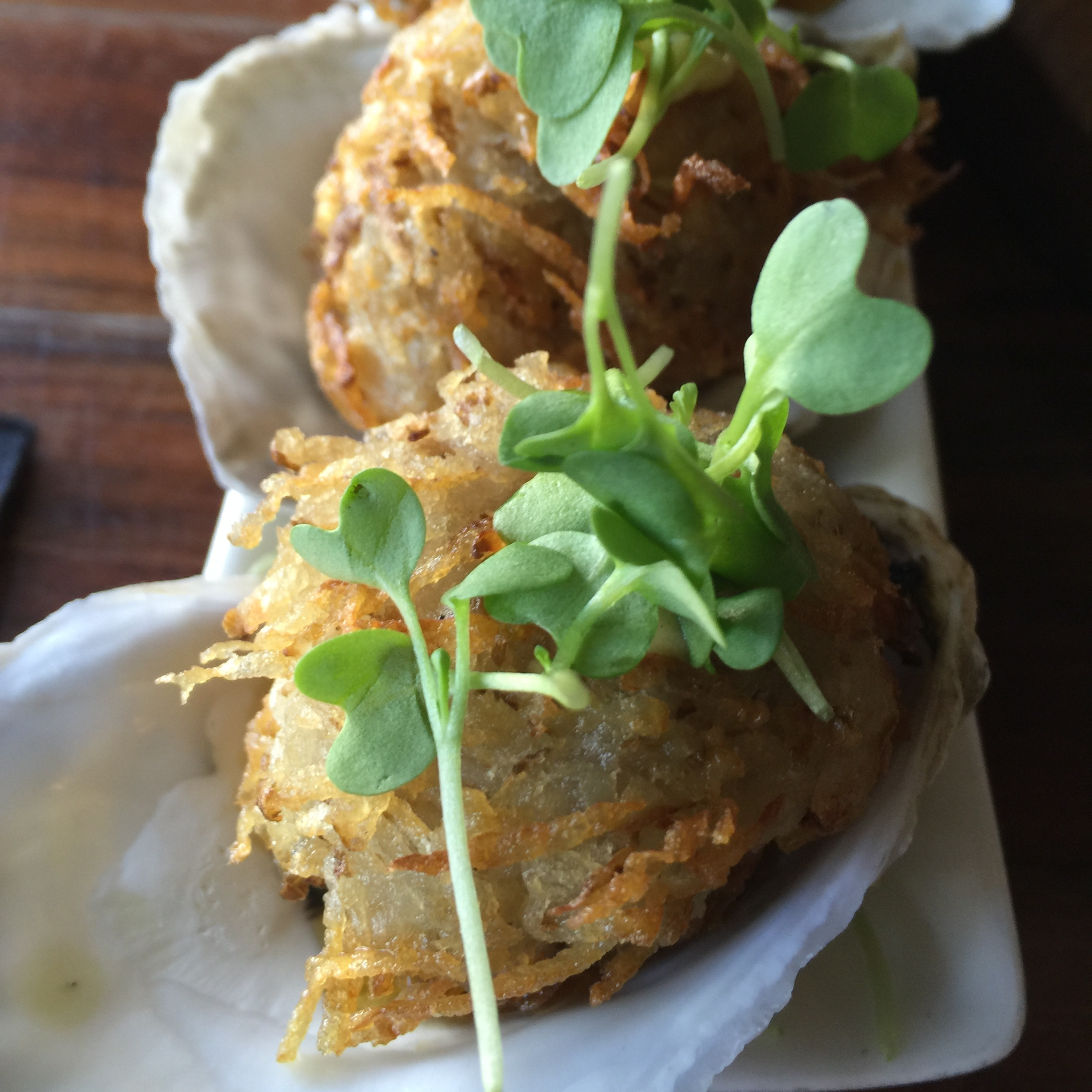 POTATO-CRUSTED OYSTERS
